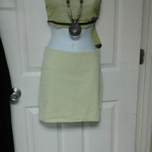 BCBGeneration skirt size S color limegreen